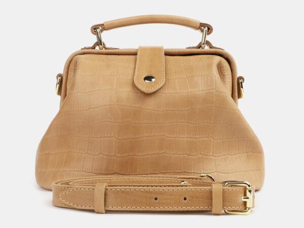 Удобная бежевая женская сумка ATS-4260
