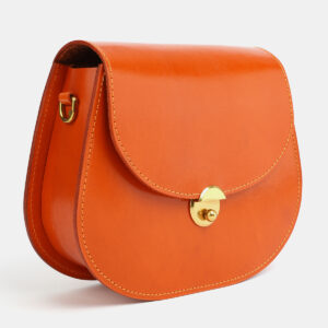 Вместительный оранжевый женский клатч ATS-4052 237365