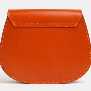 Вместительный оранжевый женский клатч ATS-4052 237366