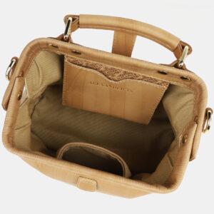 Удобная бежевая женская сумка ATS-4260 237624