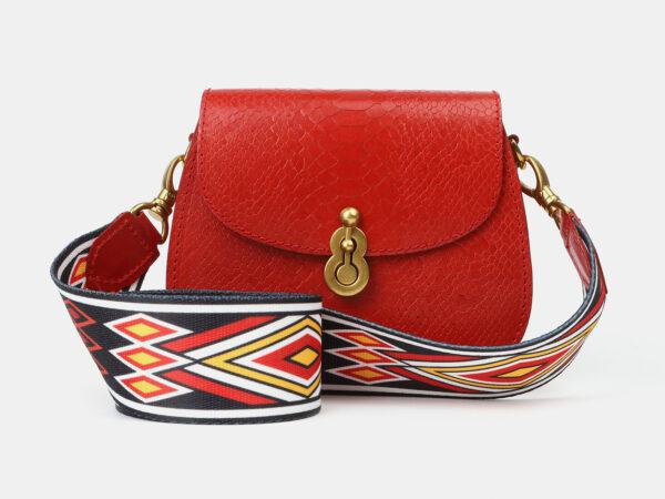 Неповторимый красный женский клатч ATS-4237