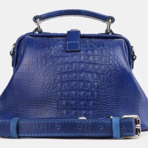 Стильная голубовато-синяя женская сумка ATS-4215