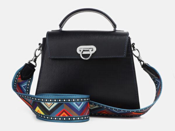 Вместительная синяя женская сумка ATS-4221