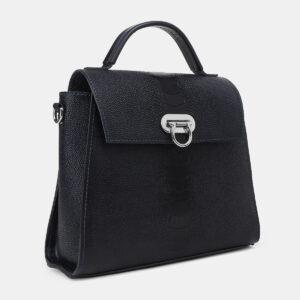 Кожаная синяя женская сумка ATS-4222 237479