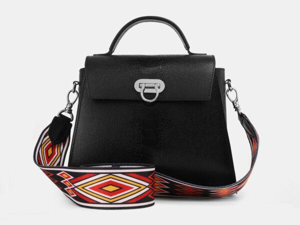 Солидная черная женская сумка ATS-4220