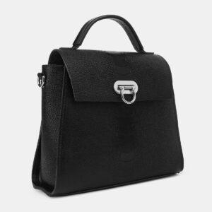 Солидная черная женская сумка ATS-4220 237489
