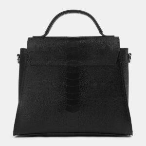 Солидная черная женская сумка ATS-4220 237491