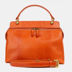 Деловая оранжевая женская сумка ATS-4223