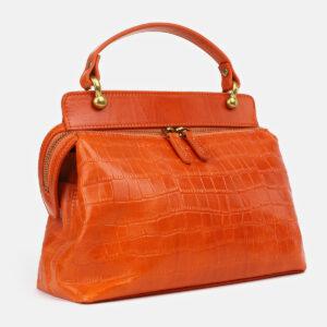 Кожаная оранжевая женская сумка ATS-4224 237469