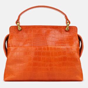 Кожаная оранжевая женская сумка ATS-4224 237470
