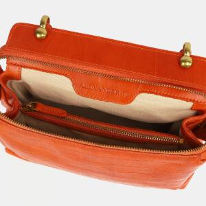 Кожаная оранжевая женская сумка ATS-4224 237472