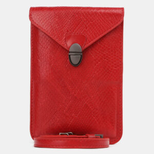 Солидный красный женский клатч ATS-4238