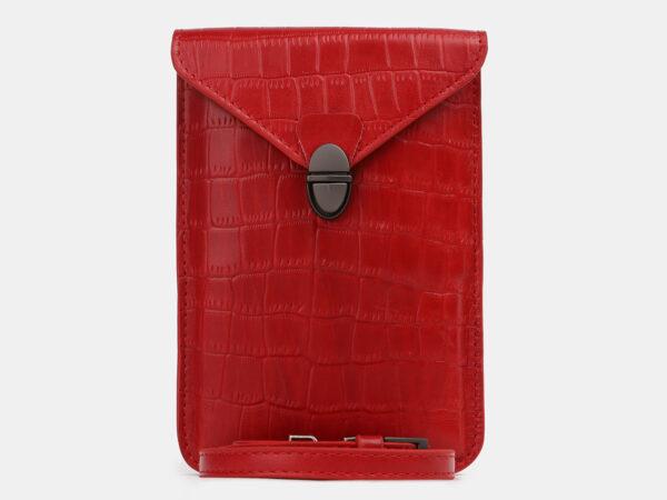 Неповторимый красный женский клатч ATS-4240
