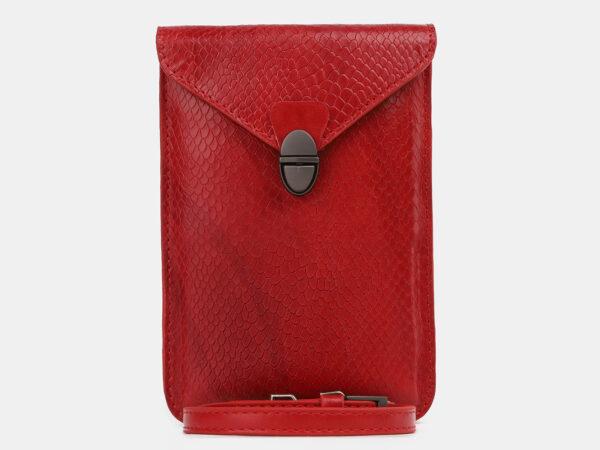 Уникальный красный женский клатч ATS-4239