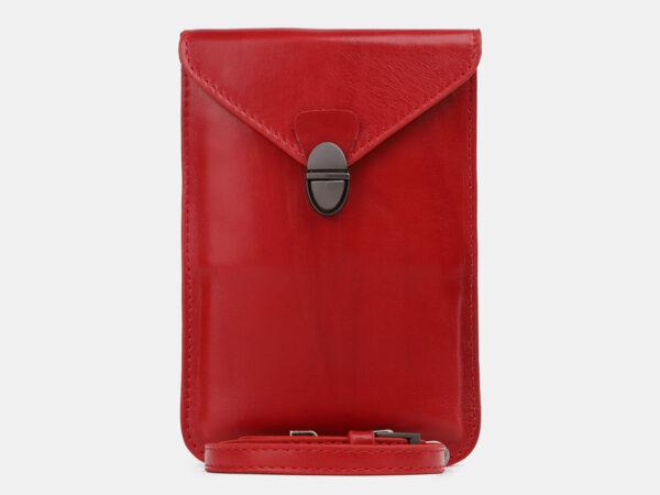 Функциональный красный женский клатч ATS-4241