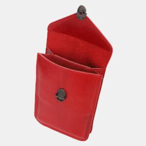 Функциональный красный женский клатч ATS-4241 237397