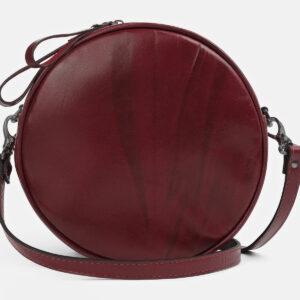 Деловая бордовая женская сумка ATS-5421