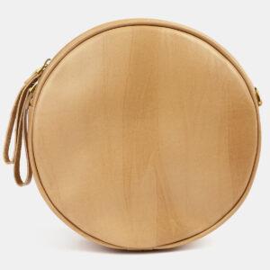 Вместительная бежевая сумка с росписью ATS-5422 237894