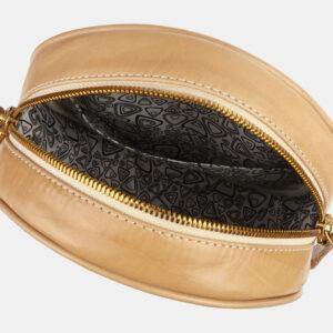Вместительная бежевая сумка с росписью ATS-5422 237896