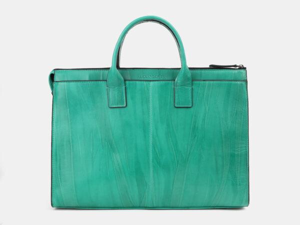 Функциональный зеленый мужской портфель ATS-4271