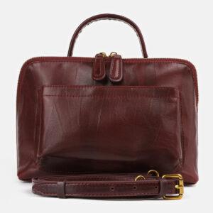 Удобная бордовая женская сумка ATS-4279
