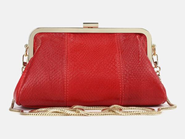 Стильный красный женский клатч ATS-4275