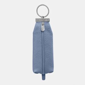 Кожаная голубая ключница ATS-5371