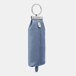 Кожаная голубая ключница ATS-5371 237759