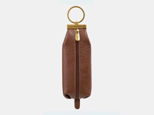 Стильная коричневая ключница ATS-5368