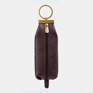 Кожаная коричневая ключница ATS-5366
