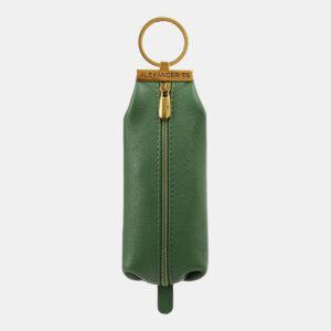 Кожаная зеленая ключница ATS-5369