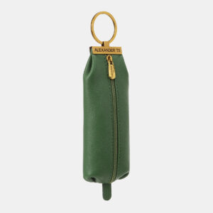 Кожаная зеленая ключница ATS-5369 237769