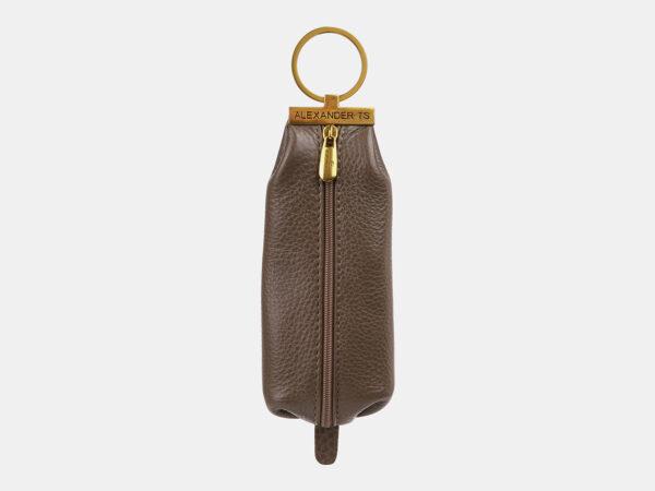 Стильная коричневая ключница ATS-5367
