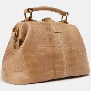 Кожаная бежевая женская сумка ATS-5386 237803