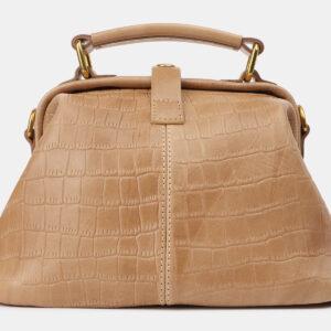 Кожаная бежевая женская сумка ATS-5386 237804