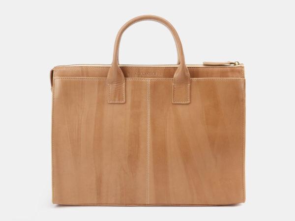Стильный бежевый мужской портфель ATS-5414