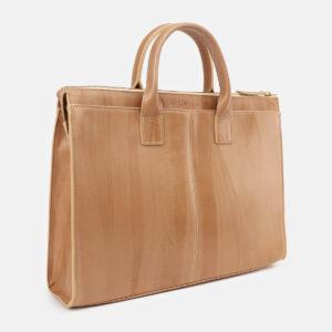 Стильный бежевый мужской портфель ATS-5414 237833