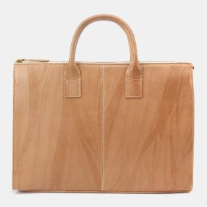 Стильный бежевый мужской портфель ATS-5414 237835