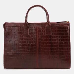 Неповторимый бордовый мужской портфель ATS-5415