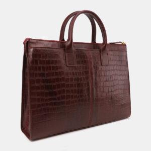 Вместительный бордовый мужской портфель ATS-5415 237828