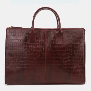 Вместительный бордовый мужской портфель ATS-5415 237830