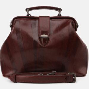 Функциональная бордовая женская сумка ATS-5413