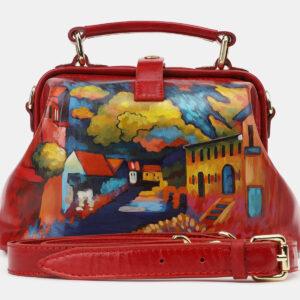 Модная красная сумка с росписью ATS-5418