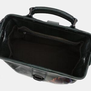 Уникальная черная сумка с росписью ATS-5432 237850