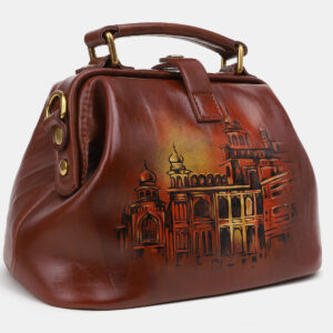 Неповторимая светло-коричневая сумка с росписью ATS-5431 237853