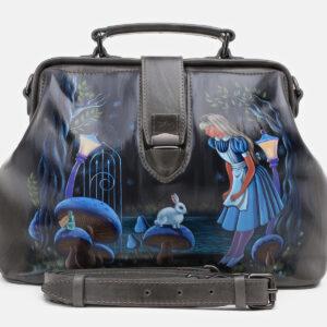 Удобная серая сумка с росписью ATS-5429