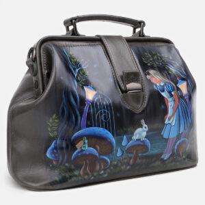 Неповторимая серая сумка с росписью ATS-5429 237858