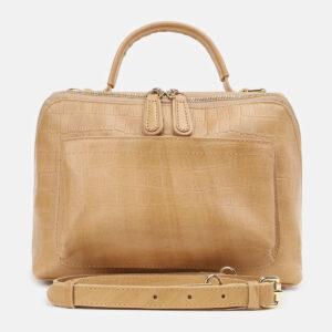 Функциональная бежевая женская сумка ATS-5423