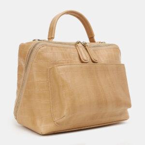 Функциональная бежевая женская сумка ATS-5423 237888