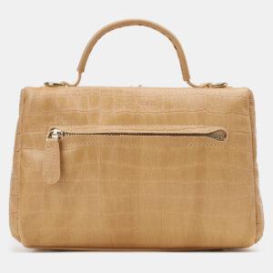 Функциональная бежевая женская сумка ATS-5423 237889